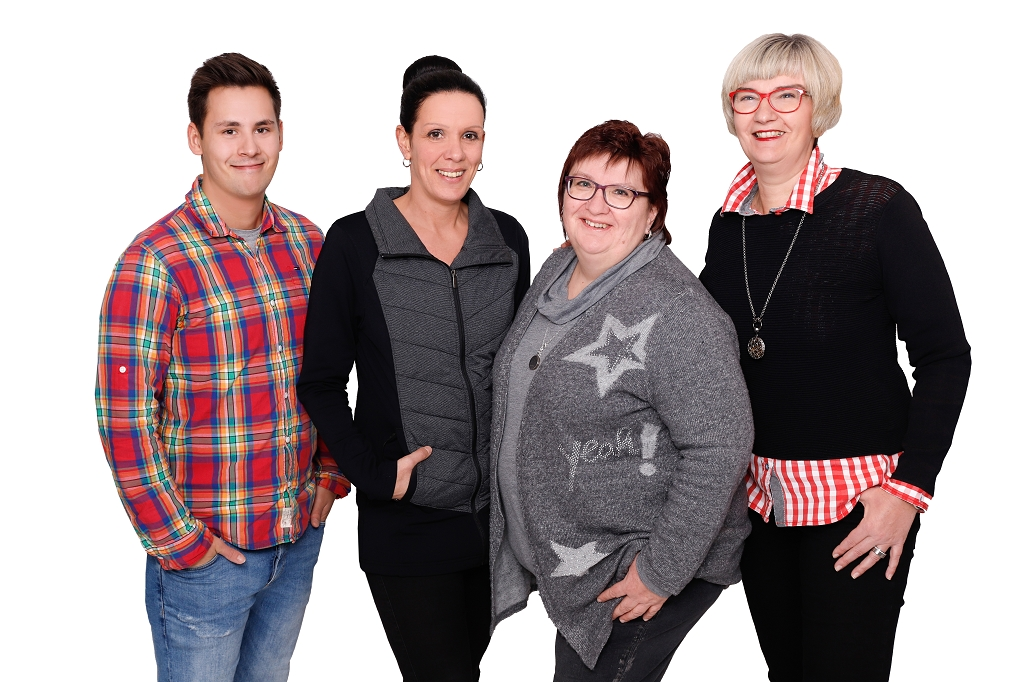 v.li.Fabrice Pestinger, Anja Srebny, Roswitha Klein & Silke Kirschner